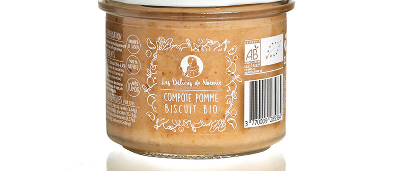 Compote pomme biscuit bio