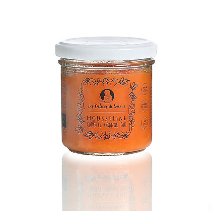 Mousseline carotte orange bio