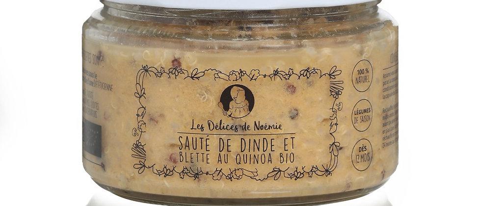 Sauté de dinde et blette au quinoa bio