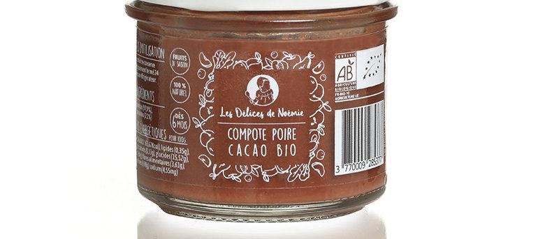Compote poire cacao bio