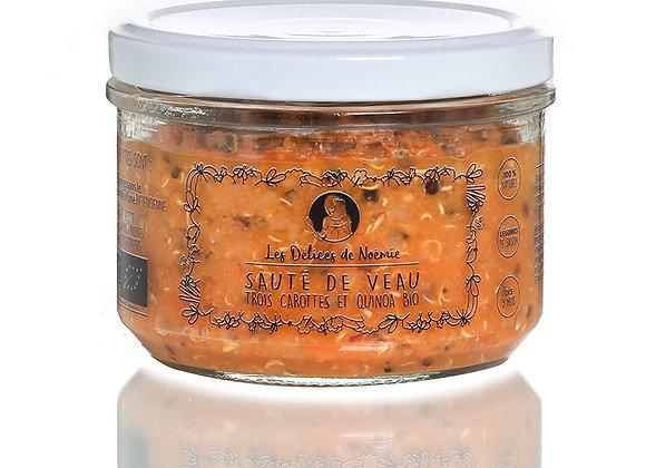 Sauté de veau trois carottes et quinoa bio
