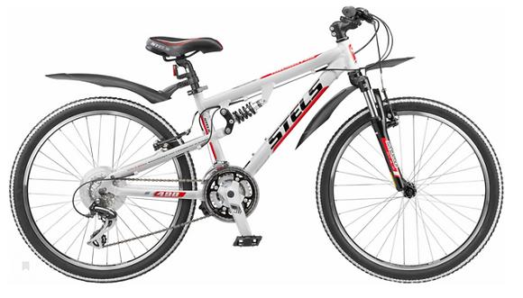 "Велосипед Стелс Navigator 490 V 24"" (рама 14""; белый)"