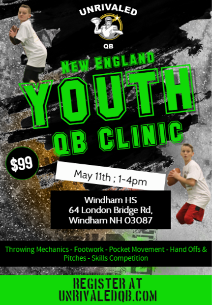 uqb, unrivaled qb, unrivaledqb, coach darrn nicoli, youth qb camps, youth qb clinics