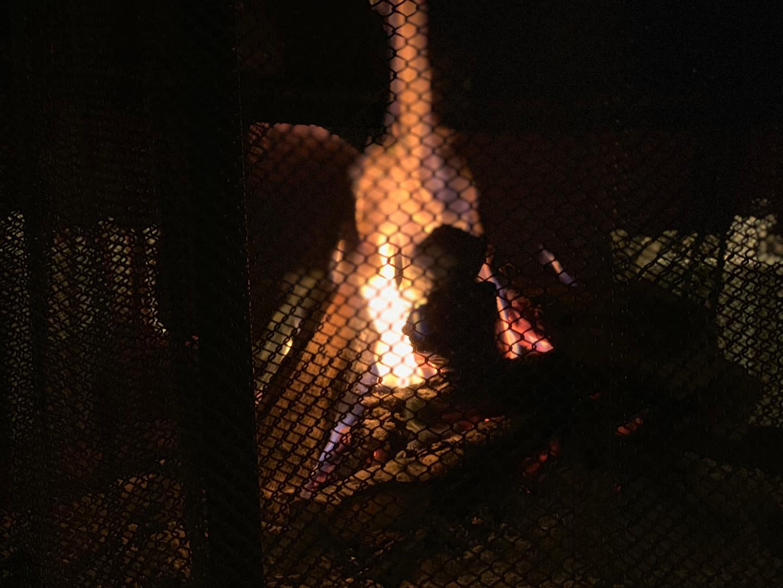 ダイニング暖炉