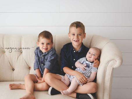 Children: Garrison, Allister, & Theodore