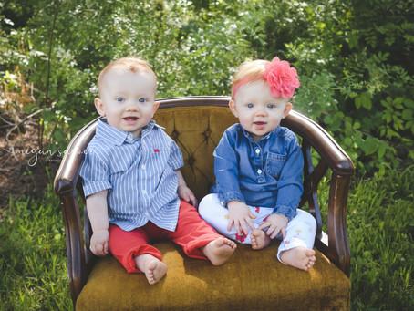 Children: Wyatt & Finnleigh {1 yr}