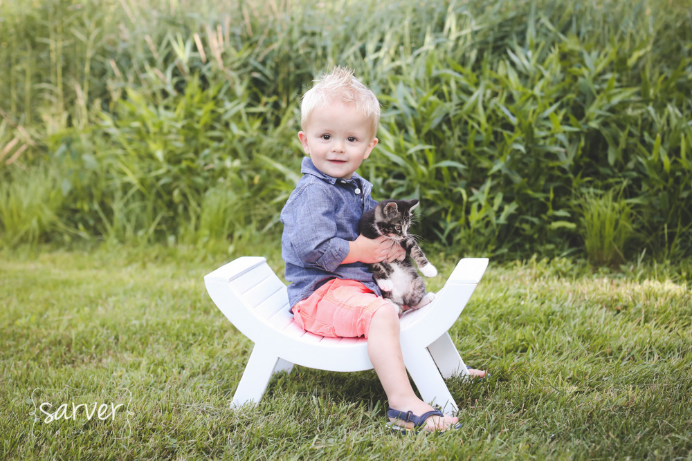 Carter and his kitty