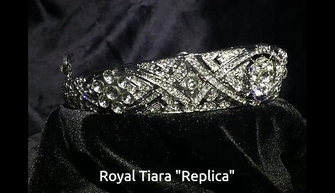 """Replica tiara"" of Queen Mary's Diamond Bandeau Tiara, a priceless heirloom, worn by Meghan Markle on her wedding day ceremony at St. George Chapel, Windsor Castle, England, May 29, 2018, loaned to her by Prince Harry's grandmother the Queen."