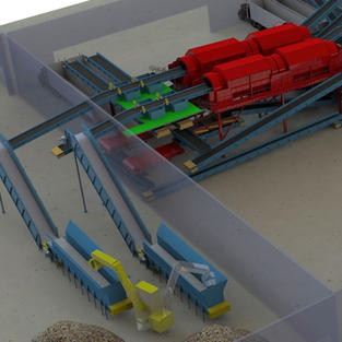 Infeed Presort and 3D Trommels Section