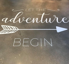 Vinyl Lettering and removable Floor Decals