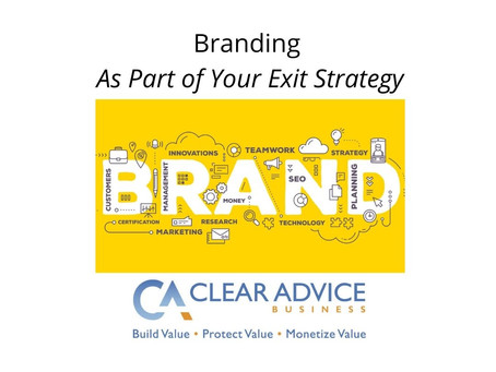 Building Your Brand as Part of Your Exit Strategy