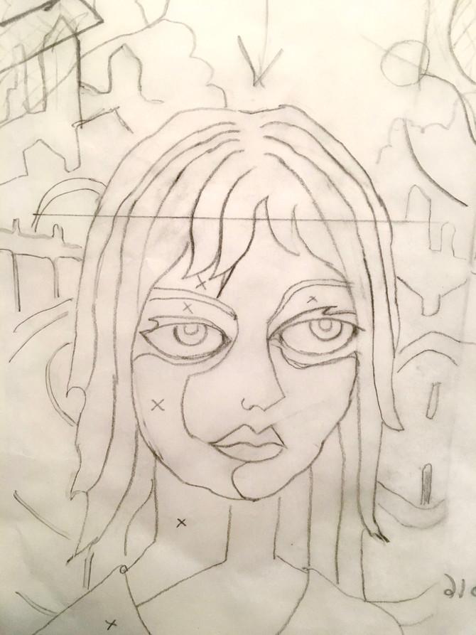 New Linoleum Block Sketch