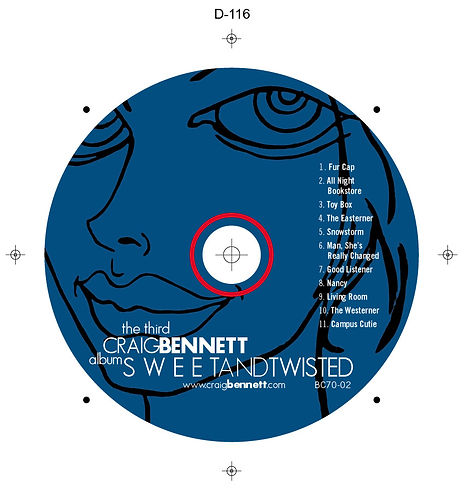 Craig Bennett Sweet and Twisted Disc Art
