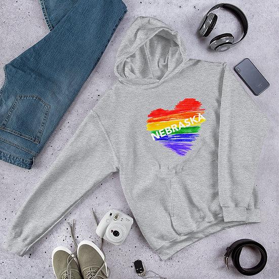 Nebraska Rainbow Unisex Hoodie
