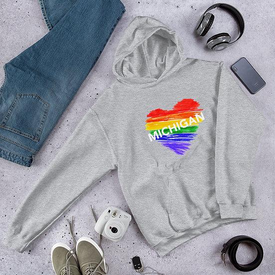 Michigan Rainbow Unisex Hoodie