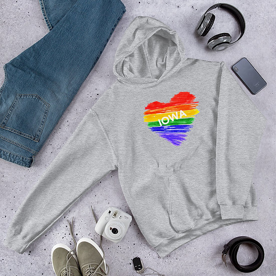 Iowa Rainbow Unisex Hoodie