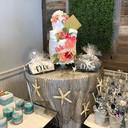 Custom beach themed bridal shower towel
