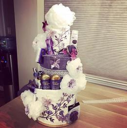 Purple themed Bridal Shower towel cake ?