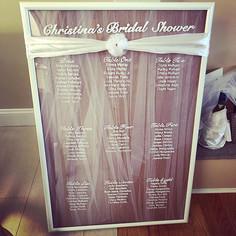 Bridal shower_ handwritten seating chart