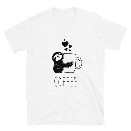 Sloth Coffee Short-Sleeve Unisex T-Shirt