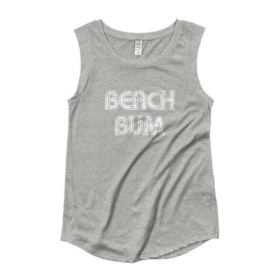 Beach Bum Ladies' Cap Sleeve T-Shirt