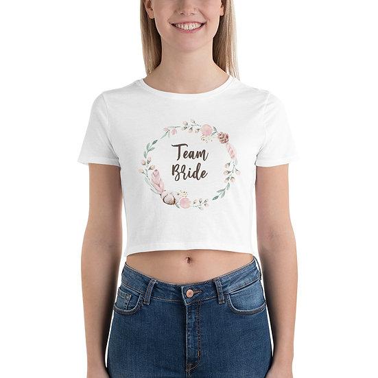 Team Bride Crop Tee
