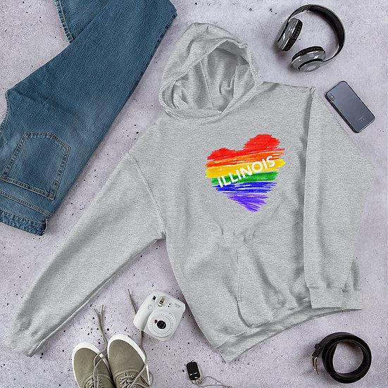 Illinois Rainbow Unisex Hoodie