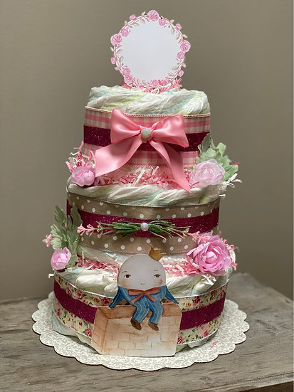Humpty Dumpty diaper cake