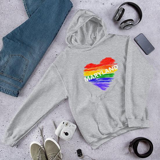 Maryland Rainbow Unisex Hoodie