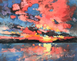 """Cory Goulet """"Abstract Sunset"""""""