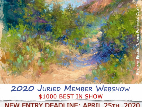 New Entry Deadline for RED ROCK 2020 MEMBER ONLINE EXHIBITION