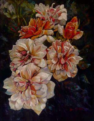 """Gina Carstens """"Cascade of Roses"""""""