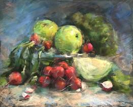 """Tatsiana Harbacheuskaya """"Still Life With Granny Smith Apples"""""""