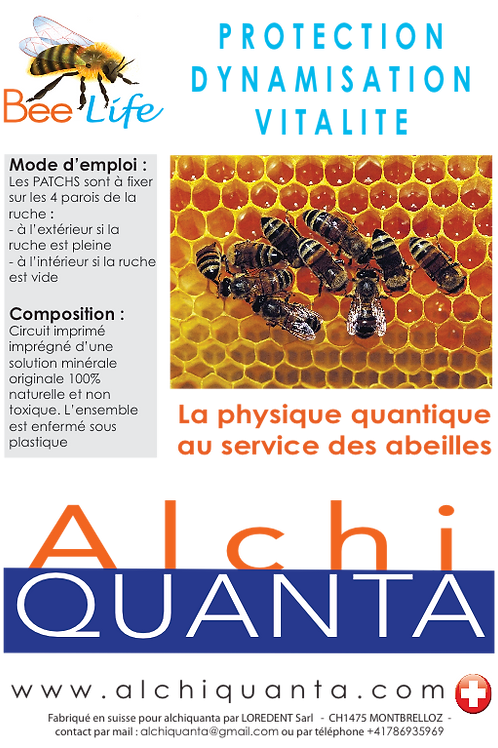 Patchs Bee Life pour les ruches