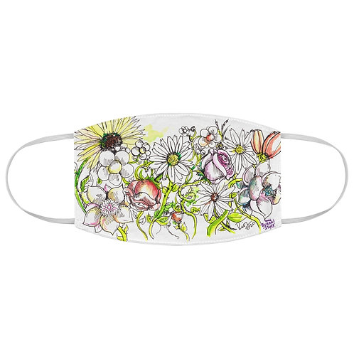 Flower Art Fabric Face Mask