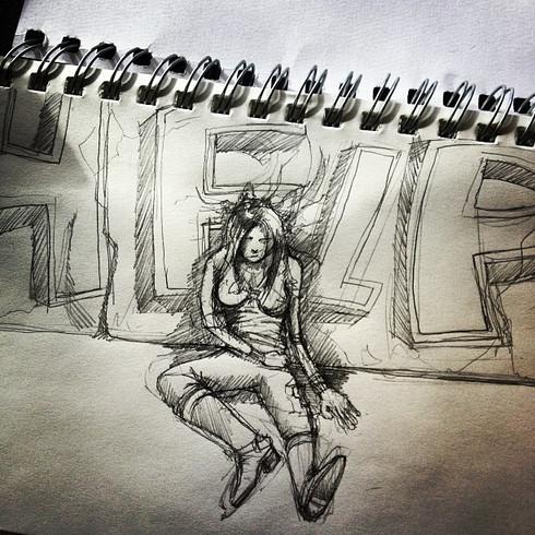 Sketch. #drawing #design #look #artist #