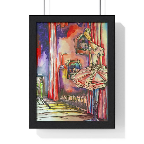 Ballerinas Stage By Rios Framed Poster