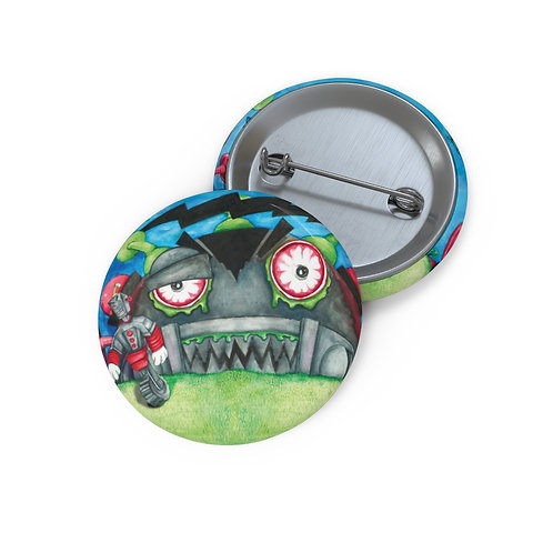Zombie Robots Pin Buttons