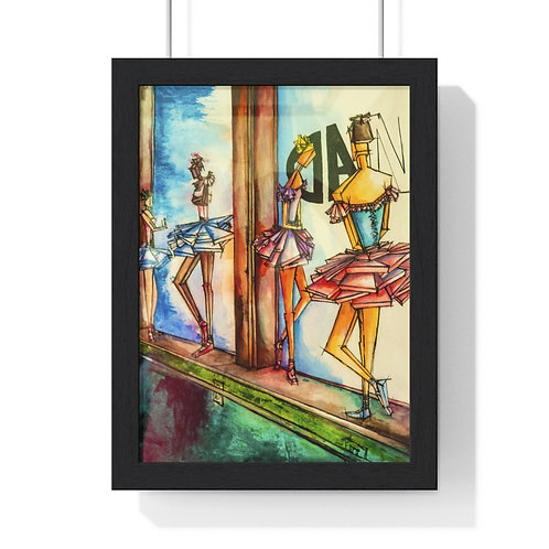 Ballerinas Waiting By Rios Framed Poster