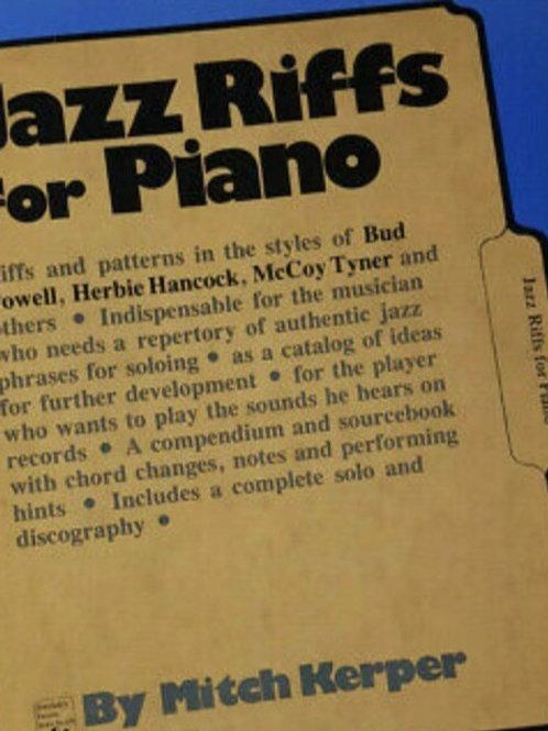 """Jazz Riffs for Piano""  By Mitch Kerper"