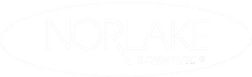 Gray Nor-Lake Scientific Oval Logo White