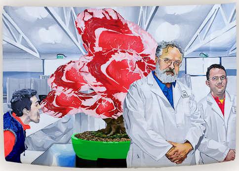 Transgenic synthetic meat