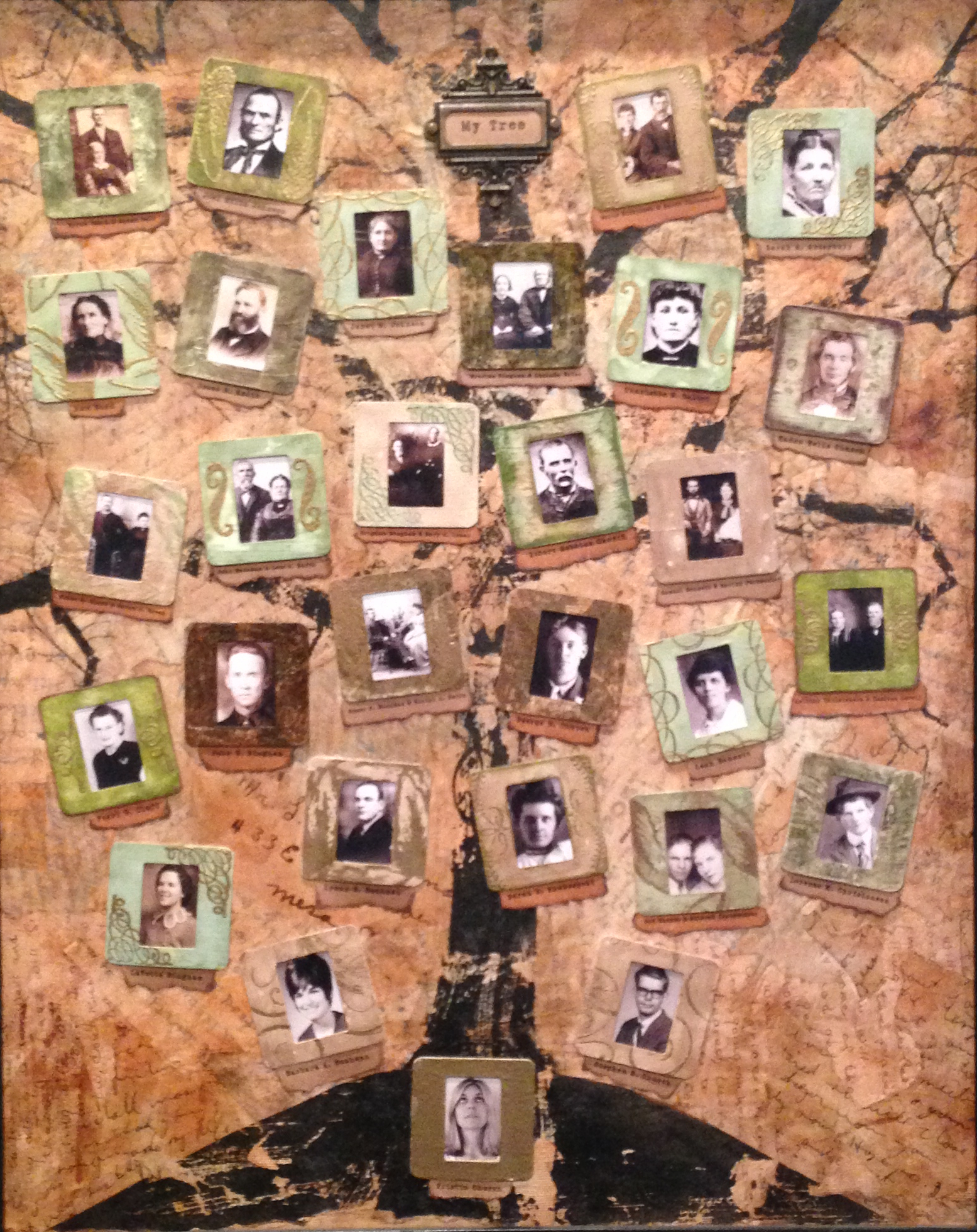 Mixed-Media Family Tree