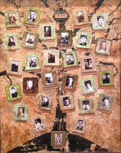 Mixed-Media Family Tree