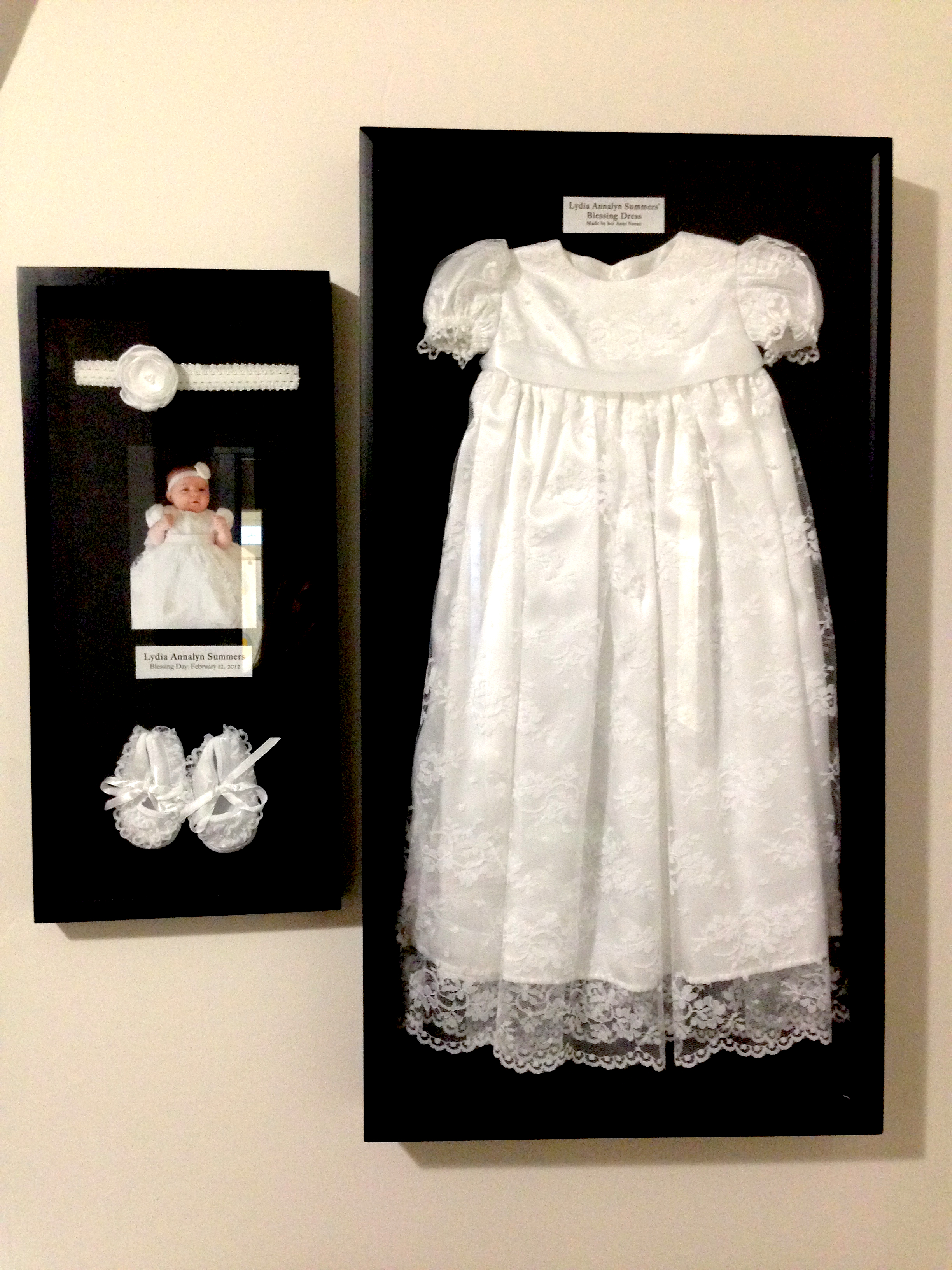 Shadow Box- Blessing Dress