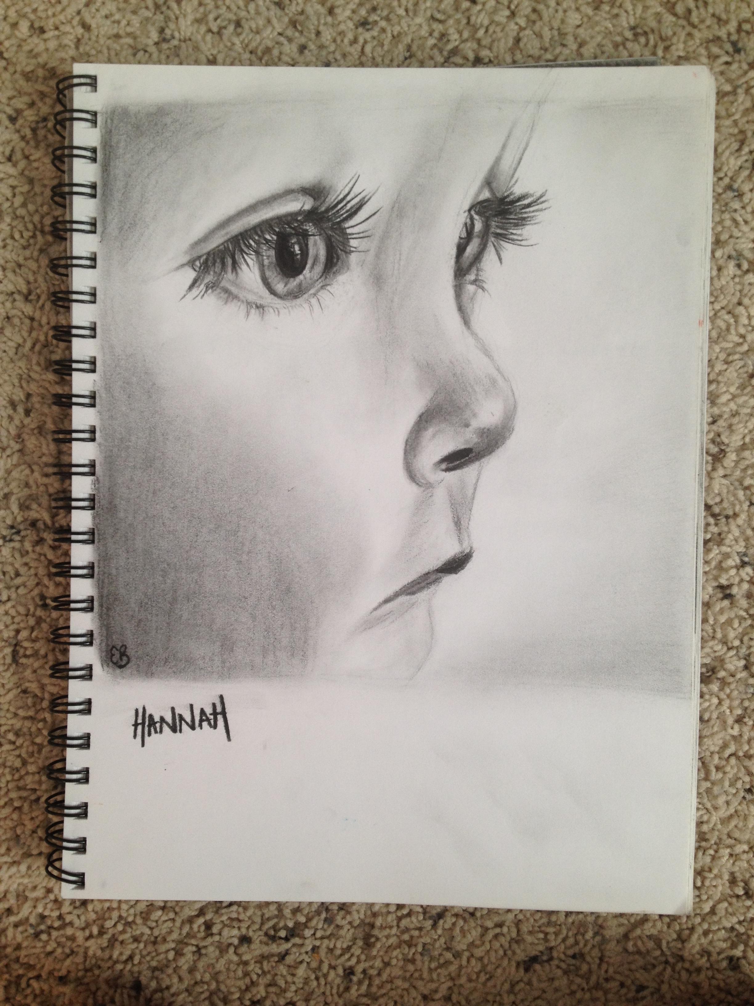 """Pencil Sketch - """"Hannah"""""""