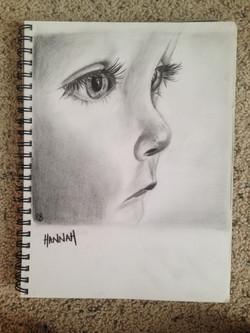 Pencil Sketch - Hannah