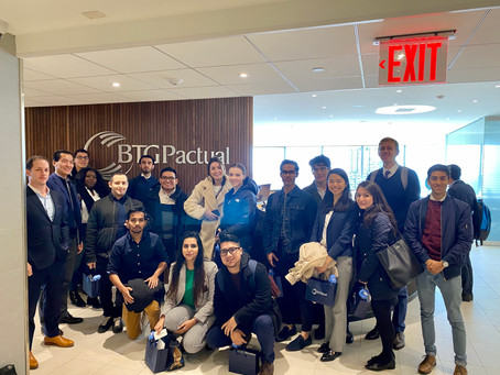 Student Trip to BTG Pactual at Their NYC HQ