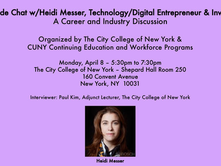 Fireside Chat with Heidi Messer, Technology/Digital Entrepreneur & Investor