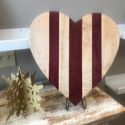 Chelsea's  Curly Maple & Purple Heart Charcuterie
